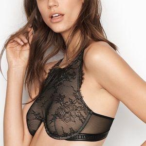 2/$36 Victoria's Secret Black Lace High Neck Bra